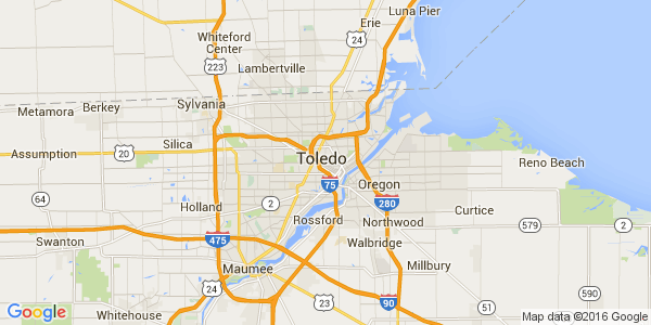 Google Map of Toledo, OH